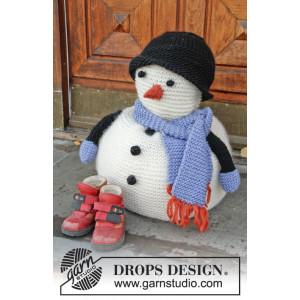 Frank by DROPS Design - Snögubbe Julpynt Stickbeskrivning 36 cm