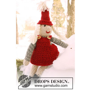 Mrs. Claus by DROPS Design - Jultomte Virk-mönster 35 cm