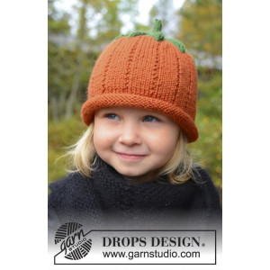 Sweet Pumpkin by DROPS Design - Mössa stikmönster str. 0/6 mdr - 7/8 år