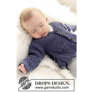 Checco's Dream by DROPS Design - Baby Jacka Stick-mönster strl. 1/3 mdr - 3/4 år