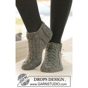 Leaf Ankle Socks by DROPS Design - Sokker Stick-opskrift strl. 35/37 - 41/43