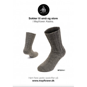Mayflower Varma Sockor - Sockor Stick-opskrift str. 23/24 - 43/44