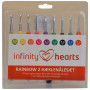 Infinity Hearts Rainbow 2 Virknål Set 13,5cm 2-6mm 9 storlekar