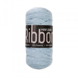 Mayflower Ribbon Trikågarn Unicolor 107 Ljusblå