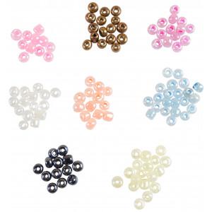 Rocaipärlor / Stickpärlor 6/0 Ass. färger - 100g
