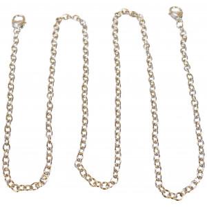 Infinity Hearts Axelrem / Kedja Silver 122cm - 1 st