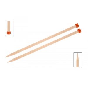 KnitPro Basix Birch Stickor / Jumperstickor Björk 40cm 10,00mm / 15.7i