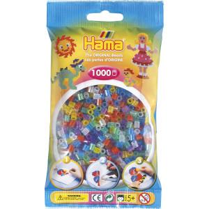 Hama Midi Pärlor 207-54 Transparent Mix 54 med glitter - 1000 st.