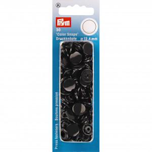 Prym Color Snaps Tryckknappar Plast Rund Svart 12,4mm - 30 st.