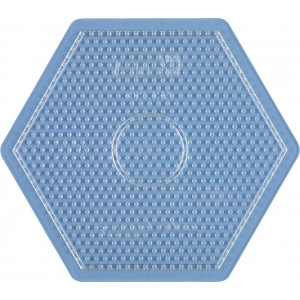 Hama Midi Pärlplatta Sexkant Stor Transparent 16,5x14,5cm - 1 st.
