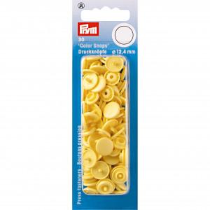 Prym Color Snaps Tryckknappar Plast Rund Banan 12,4mm - 30 st