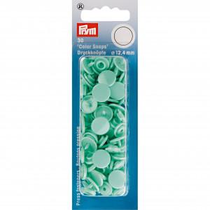 Prym Color Snaps Tryckknappar Plast Rund Mint 12,4mm - 30 st.