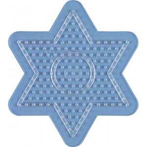Hama Midi Pärlplatta Stjärna Liten Transparent 10x9 cm - 1 st.