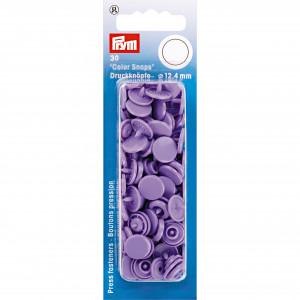 Prym Color Snaps Tryckknappar Plast Rund Lavendel 12,4mm - 30 st.