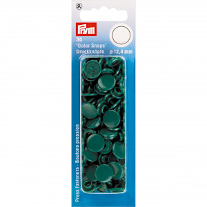 Prym Color Snaps Tryckknappar Plast Rund Buteljgrön 12,4mm - 30 st.