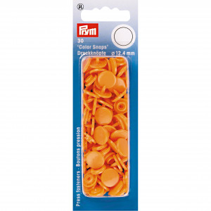 Prym Color Snaps Tryckknappar Plast Rund Orange 12,4mm - 30 st.