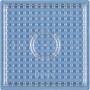 Hama Midi Pärlplatta Fyrkant Liten Transparent 7,5x7,5cm - 1 st.