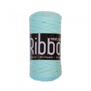 Mayflower Ribbon Trikågarn Unicolor 123 Mintgrön