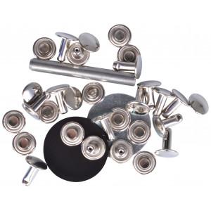 Prym Hålnitar Silver 9mm till 4-6mm tjocklek - 15 st.