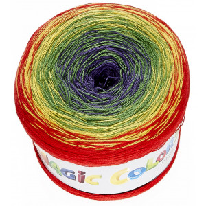 Lammy Magic Color Garn Print 618 Regnbåge