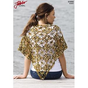 Trekantad sjal med spindelmönster - Sjal Virk-kit 140x70cm