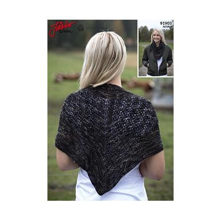 utsökt design mysig färsk Kolla på Theodora sjal - Sjal Stick-mönster 110x53cm - Rito.se