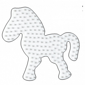 Hama Midi Pärlplatta Ponny Vit 9,5x8,5cm - 1 st.