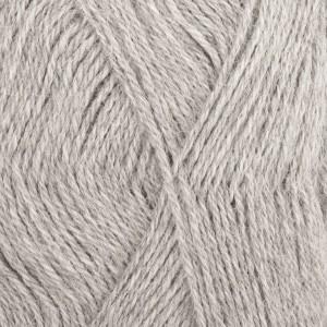 Drops Alpaca Garn Mix 501 Ljus grå