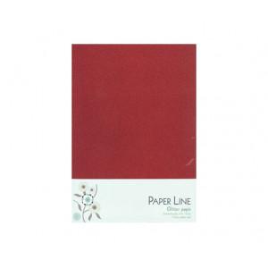 Glitter Papper Röd Dubbelt A4 120g - 10 ark