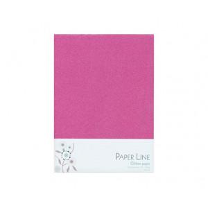 Glitter Papper Rosa Dubbelt A4 120g - 10 ark