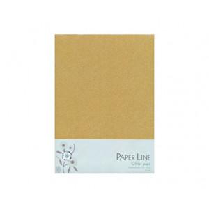 Glitter Papper Guld Dubbelt A4 120g - 10 ark