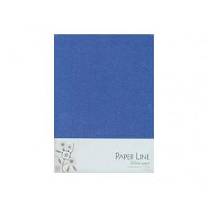 Glitter Papper Mörkblå Dubbelt A4 120g - 10 ark