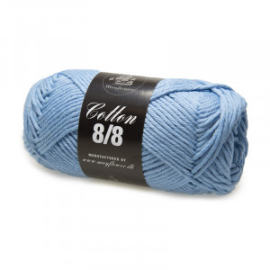 Mayflower Cotton 8/8 Big Garn Unicolor 1940 Dov Ljusblå