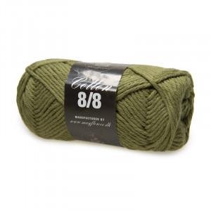 Mayflower Cotton 8/8 Big Garn Unicolor 1950 Ljus Armygrön