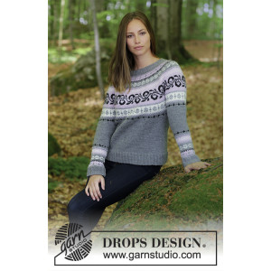 Telemark by DROPS Design - Tröja Stickopskrift strl. S - XXXL