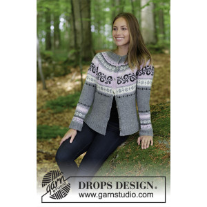 Telemark Jacket by DROPS Design - Jacka Stickopskrift strl. S - XXXL