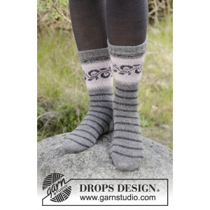 Telemark Socks by DROPS Design - Sockor Stickopskrift strl. 35/37 - 41/43