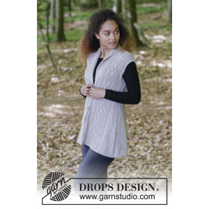 Morgan's Daughter Vest by DROPS Design - Väst Stickopskrift strl. S - XXXL