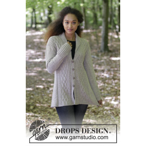 Morgan's Daughter Jacket by DROPS Design - Jacka Stickopskrift strl. S - XXXL