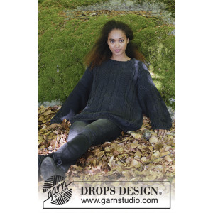 Douce Nuit by DROPS Design - Tröja Stickopskrift strl. S - XXXL