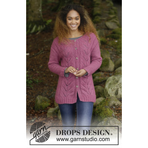 Lotus Jacket by DROPS Design - Jacka Stickopskrift strl. S - XXXL