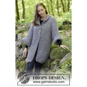 The Grove by DROPS Design - Jacka Stickopskrift strl. S - XXXL