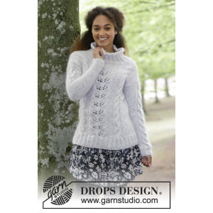 Winter Flirt by DROPS Design - Tröja Stickopskrift strl. S - XXXL