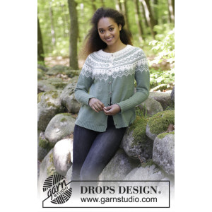 Perles du Nord Jacket by DROPS Design - Jacka Stickopskrift strl. S - XXXL