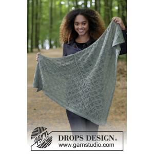 Sage Dream by DROPS Design - Sjal Stickopskrift 144x72 cm