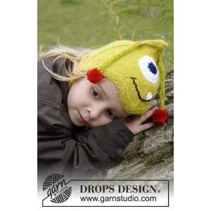 Eye Smile by DROPS Design - Mössa Stickopskrift strl. 1/3 mdr - 3/4 år