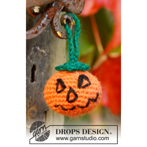 Jack by DROPS Design - Halloween Pumpa Virkopskrift 5cm