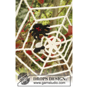 Black Widow by DROPS Design - Halloween Pynt Virkkit
