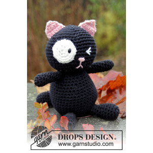 Sylvester by DROPS Design - Katt Virkmönster 18cm
