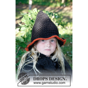 Merlina by DROPS Design - Hat Virkopskrift strl. 3/5 - 10/14 år